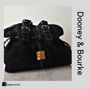 "Dooney & Bourke ""Chiara"" Midnight  Black Suede"